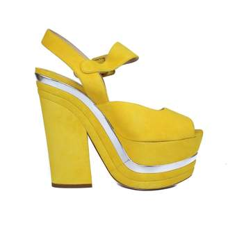 Miu Miu Yellow Leather Sandals