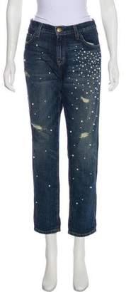 Current/Elliott Mid-Rise Embellished Jeans