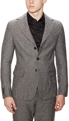 Diesel Black Gold Jejacq-Semi Wool Blend Tweed Jacket