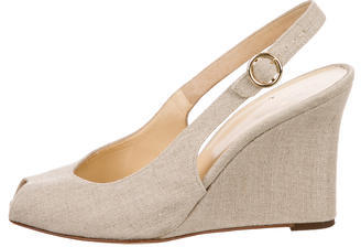 Kate Spade Kate Spade New York Canvas Slingback Wedges