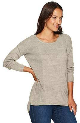 Napa Valley Women's Petite High Low Novelty Rib Pullover