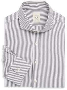 Elan International Striped Cotton Dress Shirt