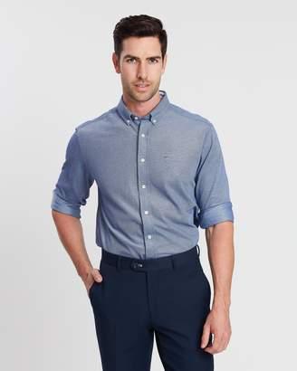 Gant Pique Solid Regular Button-Down Shirt