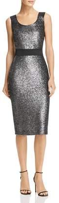 Moschino Metallic Sparkling Sheath Dress