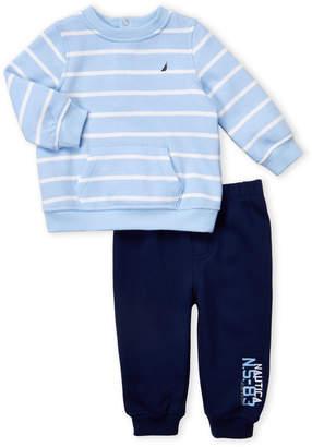 Nautica Newborn Boys) Two-Piece Striped Pullover & Joggers Set