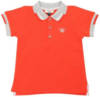Armani Junior Cotton Piqué Polo Shirt