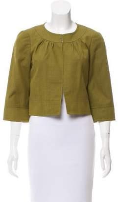 Trina Turk Silk Crop Jacket