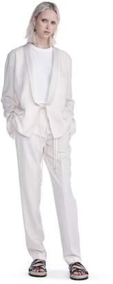 Alexander Wang Drape Poly Twill Front Tie Tux Blazer