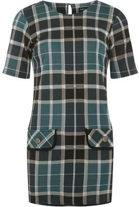 Dorothy Perkins Womens Green Check Tunic