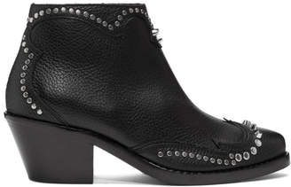 McQ Black New Solstice Zip Boots