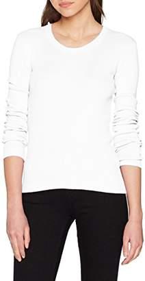 Benetton Women's Sweater L/s Jumper, (White 101), X-Small