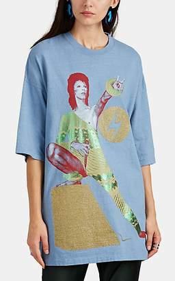 Undercover Women's Ziggy Stardust-Print Cotton T-Shirt - Blue