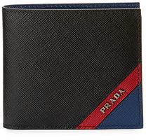 Prada Saffiano Tricolor Wallet $345 thestylecure.com