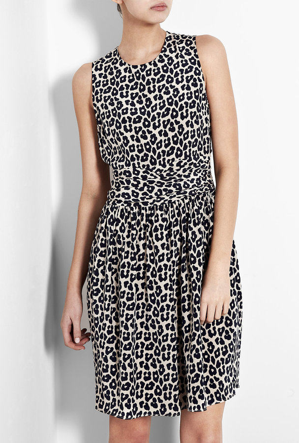 3.1 Phillip Lim Blue Leopard Print Silk Dress