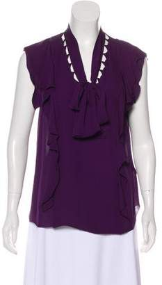 3.1 Phillip Lim Silk Short Sleeve Blouse
