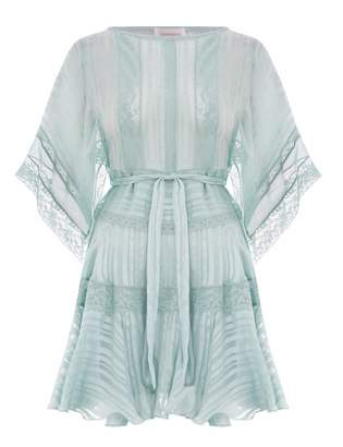 Zimmermann Whitewave Veil Mini Dress