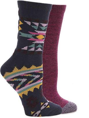Lucky Brand Geometric Crew Socks - 2 Pack - Women's