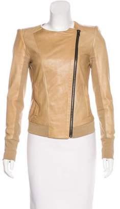 A.L.C. Leather Asymmetrical Jacket