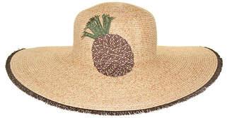 Riviera Straw Embroidered Floppy Hat