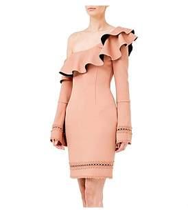 Nicholas Bandage One Shoulder Slim Midi Dress