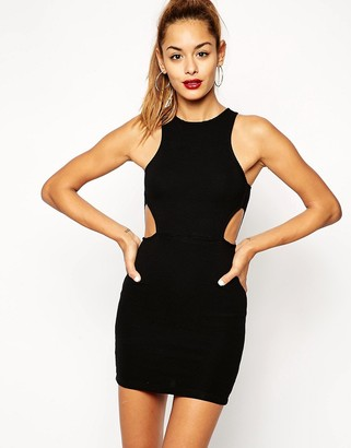 ASOS Cut Out Ribbed Mini Body-Conscious Dress $43 thestylecure.com
