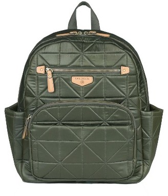 Infant Girl's Twelvelittle 'Companion Backpack' Quilted Nylon Diaper Bag - Green $189 thestylecure.com