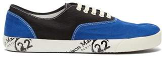 Maison Margiela Tabi Canvas Low Top Sneakers - Mens - Dark Blue