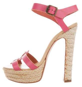 RED Valentino Leather Platform Sandals
