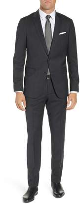 BOSS Nestro/Byte Trim Fit Stretch Solid Wool Suit