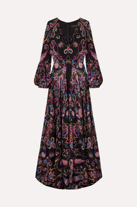Etro Printed Silk-crepe Maxi Dress - Black