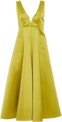 Rochas Satin Midi Dress