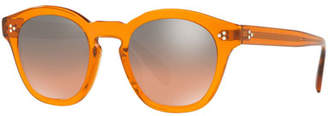 Oliver Peoples Boudreau L.A. Mirrored Round Acetate Sunglasses