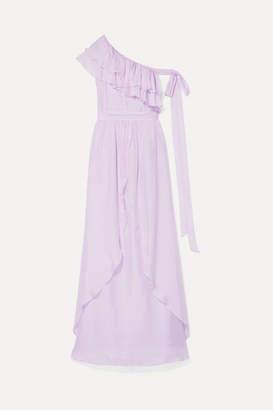 Rachel Zoe Susanna Ruffled Chiffon Gown - Lilac