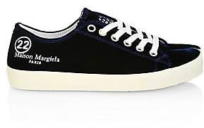Maison Margiela Women's Tabi Velvet Low-Top Sneakers