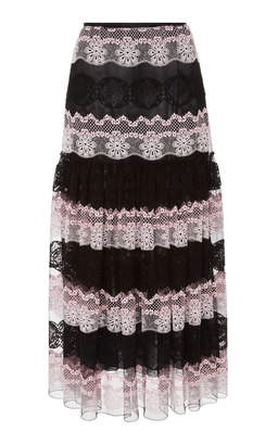 Giambattista Valli High Waist Midi Skirt