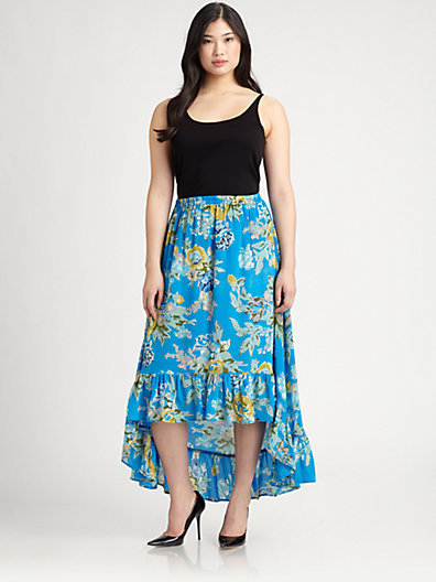 Tolani Tolani, Salon Z Silk Sydney Hi-Lo Skirt