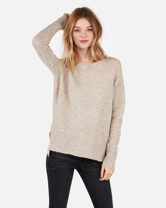 Express Crew Neck Hi-Lo Tunic Sweater