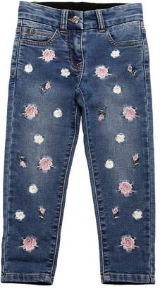 MonnaLisa Floral Denim Effect Cotton Sweatpants