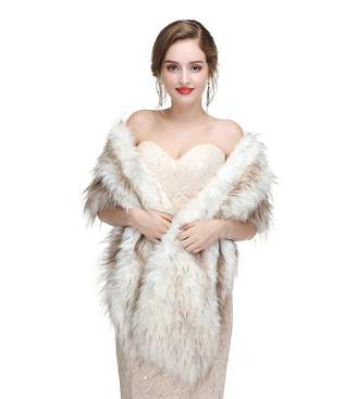 King's Love Faux Fur Wedding Wraps For Bride Shawls And Jacket Wedding Wrap For Women