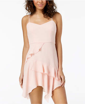 B. Darlin Juniors' Chiffon Ruffle Slip Dress