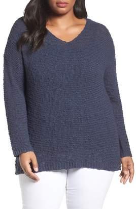 Caslon Summer Popover Sweater (Plus Size)