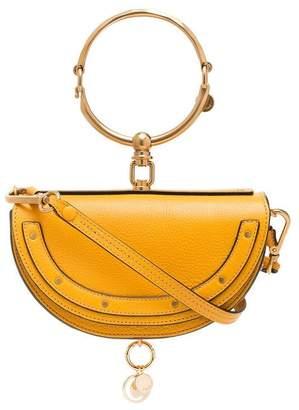 Chloé yellow nile minaudière leather bracelet bag
