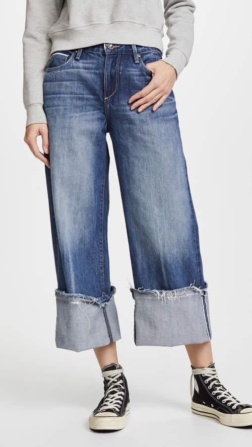 Tortoise Canni Slouchy Crop Wideleg Jeans