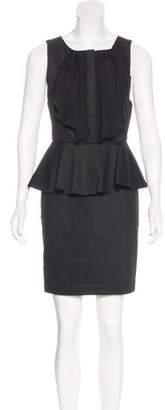 Alice + Olivia Ruffle-Accented Mini Dress