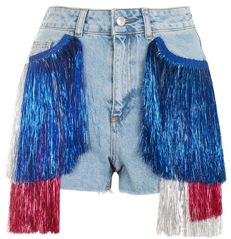 Topshop Topshop Moto tinsel mom shorts