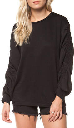 Dex Long-Sleeve Round Neck Top