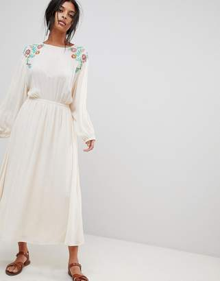 Moon River Embroidered Maxi Dress