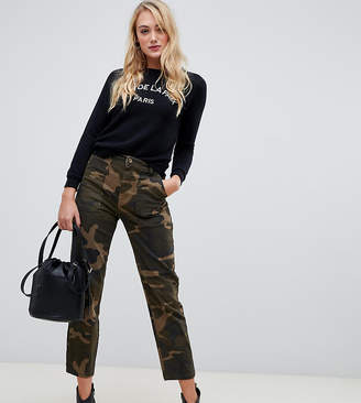 New Look Tall camo utility pants in green