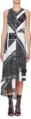 Altuzarra Pavilion Sleeveless Button-Front Bandana-Print Silk Midi Dress