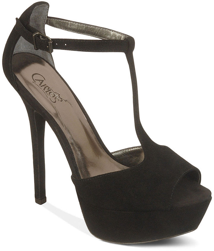 Carlos by Carlos Santana Shoes, Sardinia T-Strap Platform Pumps